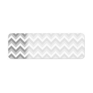 Gray and White Zigzag Pattern. Return Address Label