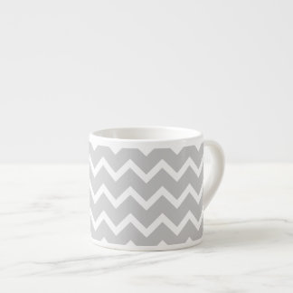 Gray and White Zigzag Stripes.