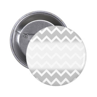 Gray and White Zigzag Stripes. 6 Cm Round Badge