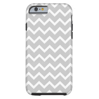 Gray and White Zigzag Stripes. Tough iPhone 6 Case