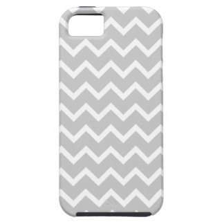 Gray and White Zigzag Stripes. Case For The iPhone 5