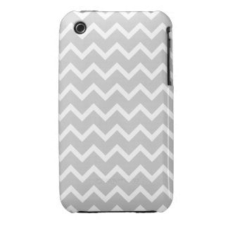 Gray and White Zigzag Stripes. iPhone 3 Case