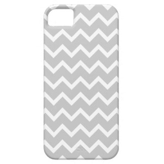 Gray and White Zigzag Stripes. iPhone 5 Cases