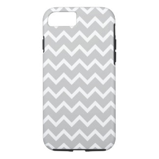 Gray and White Zigzag Stripes. iPhone 8/7 Case