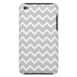 Gray and White Zigzag Stripes. iPod Touch Cover