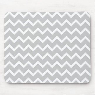 Gray and White Zigzag Stripes. Mouse Pad