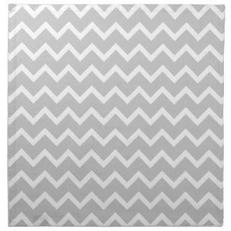 Gray and White Zigzag Stripes. Napkin