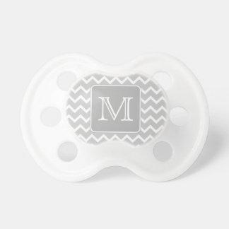 Gray and White Zigzags with Custom Monogram. Dummy