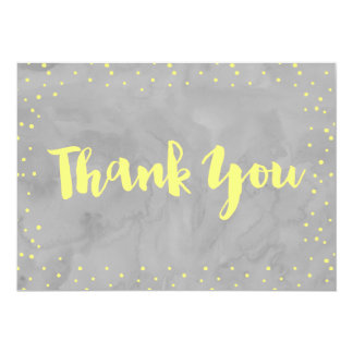 Gray and Yellow Baby Shower | Thank You Card 13 Cm X 18 Cm Invitation Card