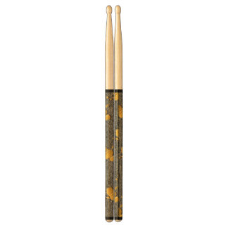 Gray and yellow Pattern Drumsticks
