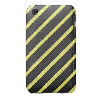 Gray and Yellow Striped iPhone 3 Covers