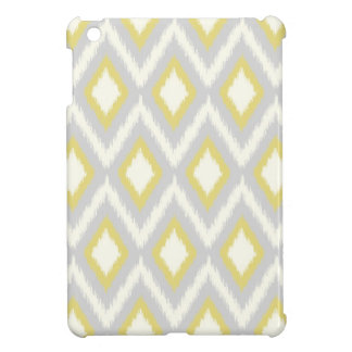 Gray and Yellow Tribal Ikat Chevron Cover For The iPad Mini