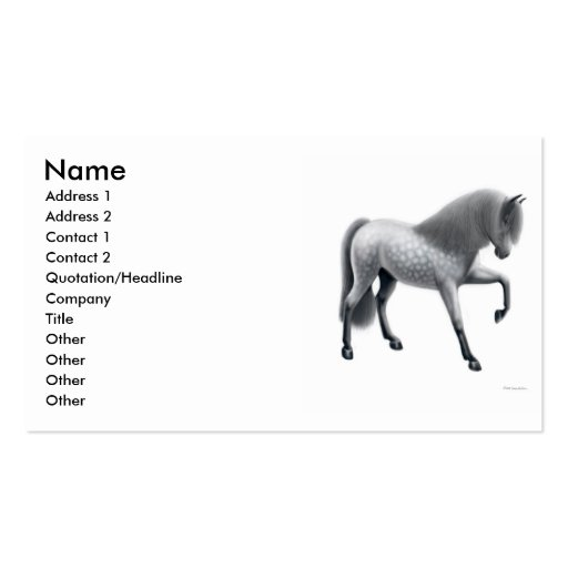 Gray Andalusian Horse Business Card