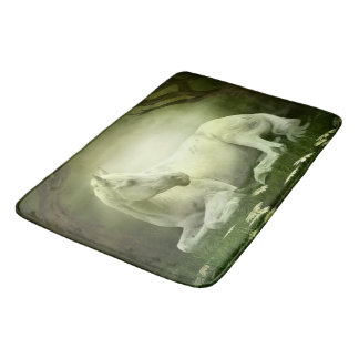 Gray Arabian Horse Bath Mat
