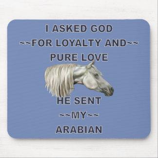 Gray Arabian Horse Mouse Mat