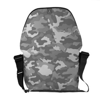 Gray Army Military Camo Camouflage Pattern Texture Messenger Bag