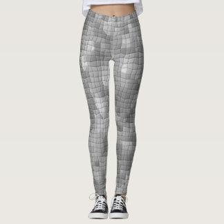 Gray Artistic Mosaic Pattern Leggings