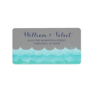 Gray At Sea Nautical Wedding Labels