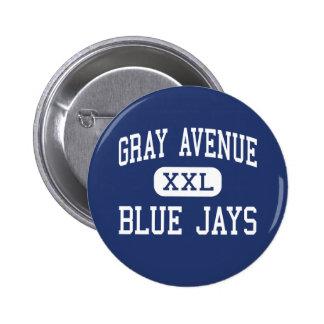 Gray Avenue Blue Jays Middle Yuba City 6 Cm Round Badge