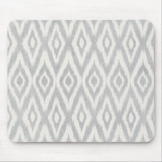 Gray Aztec Pastel Watercolor Ikat Soft Geometric Mouse Mat