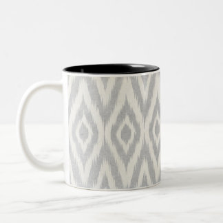 Gray Aztec Pastel Watercolor Ikat Soft Geometric Two-Tone Coffee Mug