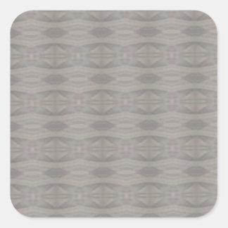Gray Aztec Pattern Square Sticker