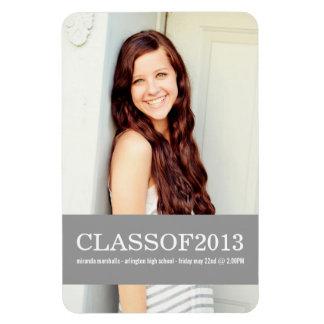 Gray Banner Design Photo Graduation Magnet