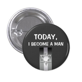 Gray bar mitzvah celebrations 3 cm round badge