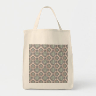 Gray Baroque Royal Damask Tote Bag