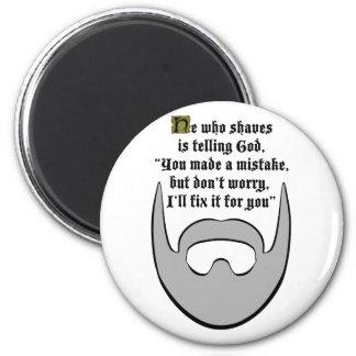 gray beard fridge magnet