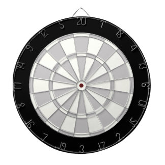 Gray Black And White Dartboard