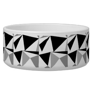 Gray, Black and White Modern Geometric Pattern.