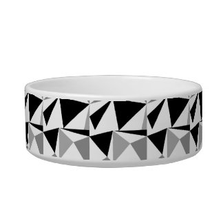 Gray, Black and White Modern Geometric Pattern. Bowl