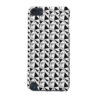 Gray, Black and White Modern Geometric Pattern. iPod Touch (5th Generation) Case