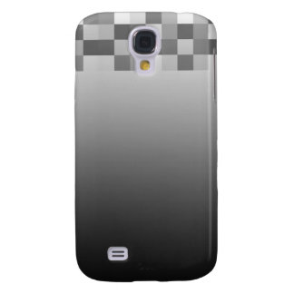 Gray Black and White Squares Pern Galaxy S4 Case