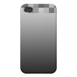 Gray Black and White Squares Pern iPhone 4 Case