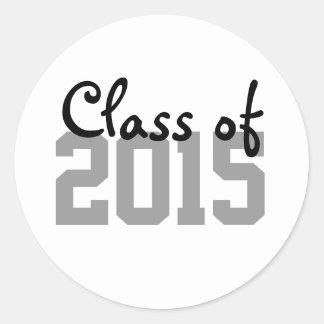 Gray Black Graduation Year Envelope Seal Stickers