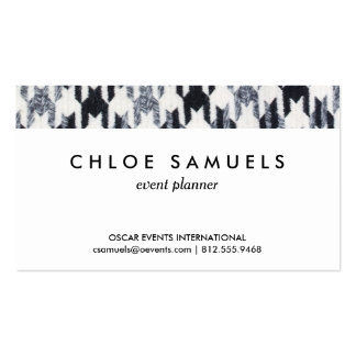 Gray & Black Houndstooth Modern Fabric Texture Business Card Templates