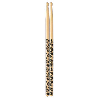 Gray Black Leopard Animal Print Pattern Drumsticks