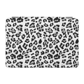 Gray Black Leopard Animal Print Pattern iPad Mini Cover