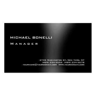 Gray Black Modern Simple Manager Business Card