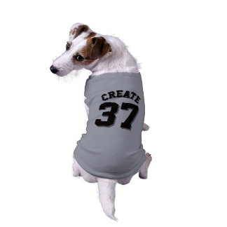 Gray & Black Pets | Dog Sports Jersey Design Sleeveless Dog Shirt