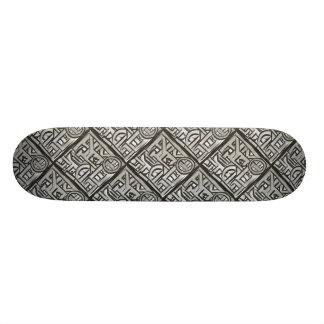 Gray Black Textural Geometric-Abstract Pattern 21.6 Cm Skateboard Deck