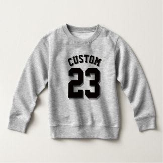 Gray & Black Toddler | Sports Jersey Sweatshirt