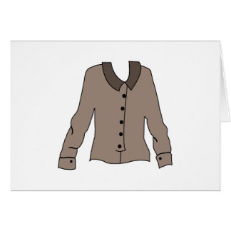 Gray Blouse Greeting Card
