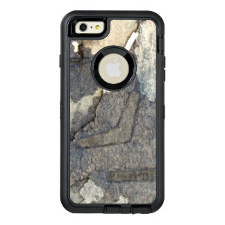 gray-blue background watercolor 2 OtterBox defender iPhone case