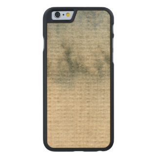 gray-blue background watercolor 6 carved maple iPhone 6 case