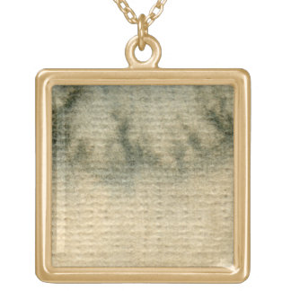 gray-blue background watercolor 6 gold plated necklace