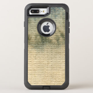 gray-blue background watercolor 6 OtterBox defender iPhone 8 plus/7 plus case