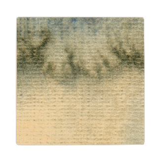 gray-blue background watercolor 6 wood coaster